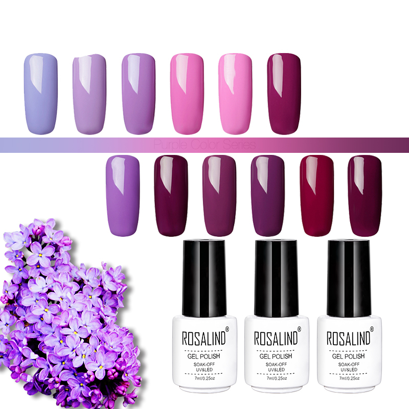 Gel Nail Polish Purple Color Series 7 ml