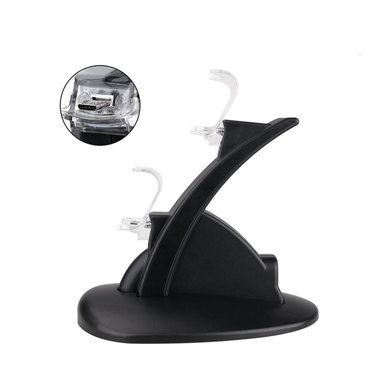 LED Dual USB Controller Charger Dock