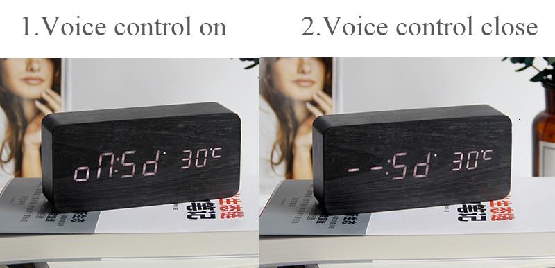 LED Digital Alarm Clock with Humidity and Temperature Sensors
